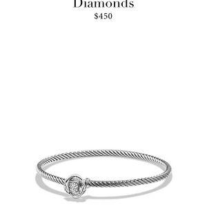 Infinity Bracelet with Diamonds